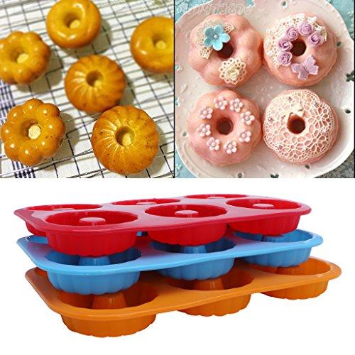 dairyshop Antihaft Silikon Donut Form 6-cavity hitzebeständig Donut Backformen Tools (Rezepte Halloween Einfache Für Cupcakes)