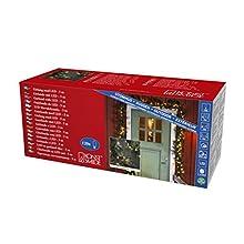 Konstsmide 2708-800 Guirlande en épicéa LED pour Usage extérieur ou intérieur (IP20) 120 diodes Blanches ambrées 5 m Câble Vert