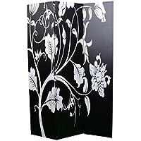 Home Line Biombo Secret Spring/Design Viwin. Para Salón/Dormitorio. Blanco y negro.