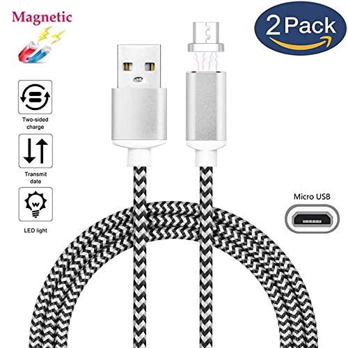 Superior Magnetic Micro USB Cable ZRL® Nylon Litzen 2.4 EIN Micro Rapid Ladegerät USB Kabel Adapter LED Anzeige schnell Sync Datenkabel für Samsung HTC LG Xiaomi Android Geräte und mehr Sync-ladegerät-adapter