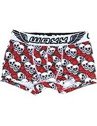 WAXX la muerte de Star Love de costura para ropa interior de bóxer con cabeza pantalón corto Boy's permiten el paso de la