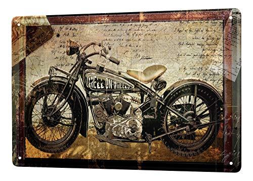 Blechschild Nostalgie Schild Motorrad Bike 20X30 cm