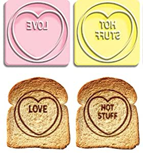 Tampons pour toasts - Love Hearts
