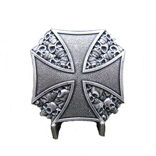 rtelschnalle Buckle Eisernes Kreuz Iron Cross Totenkopf Skull ()