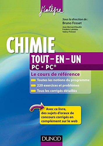 Chimie tout-en-un PC-PC* : Le cours de référence...