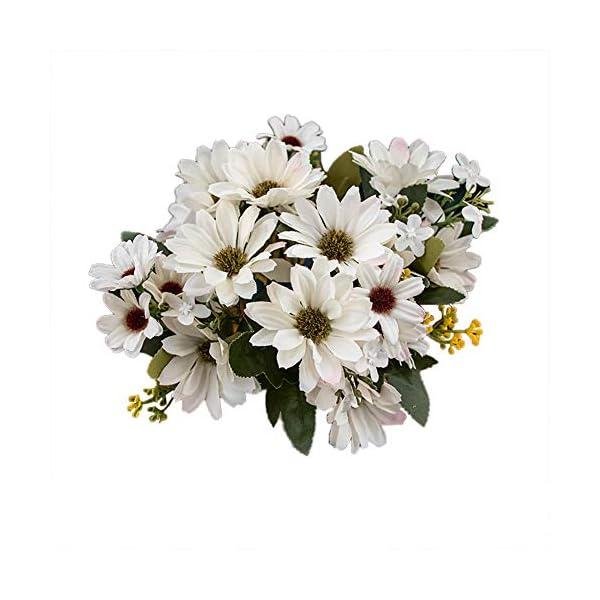 VLUNT Flores Artificiales Margarita Artificial Decoración del Hogar