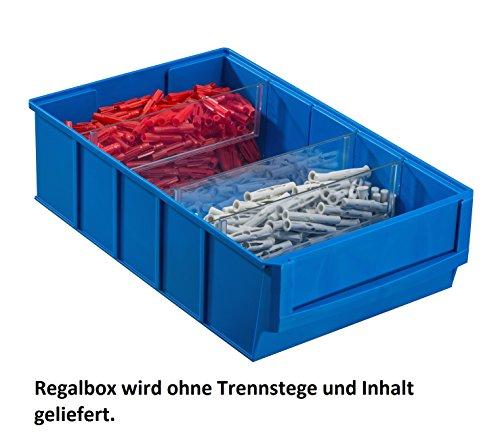Preisvergleich Produktbild Industriebox, Regalbox ProfiPlus ShelfBox 300B, blau 8 Stück