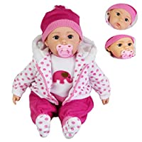 "20"" Lifelike Large Size Soft Bodied Baby Doll Girls Boys Toy With Dummy & Sounds (Spotty Coat)"