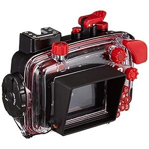 Olympus-PT-058-Unterwassergehuse-geeignet-fr-TG-5-Digitalkamera-schwarzrot