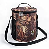 Large Capacity Camo Insulated Lunch Bag Freezable Picnic Bag with Zipper Shoulder Stripe for Outdoors Camping Fishing Picnic