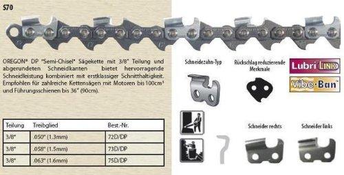 """Vollmeißel Säge Kette 66TG 45cm 3//8/"""" 1.6mm passend für Stihl 034 MS340 Chain"""