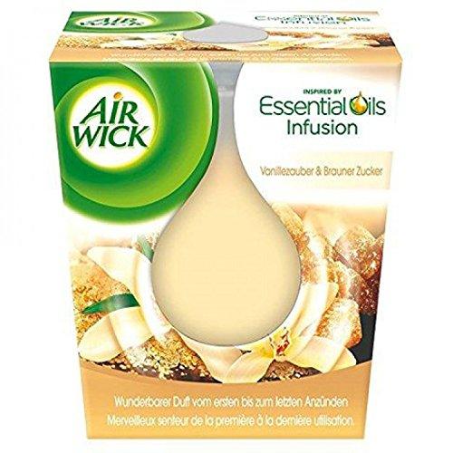 Air Wick Duftkerze Vanille und Brauner Zucker, 6er Pack (6 x 105g)