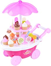 cartup (Ice Cream Kitchen Play Cart Kitchen Set Toy with Lights and Music - Small)
