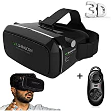 """VinMas 3D VR Headset 3D VR Glasses VR Shinecon 3D Virtual Reality Experience Adjustable Strap for 3D Movies and Games for iPhone 6Plus 6s Samsung S6/S7 Edge / Note 5 / All 4.0 ~ 6.0"""" Smart Phones Come with Bluetooth Remote Controller"""