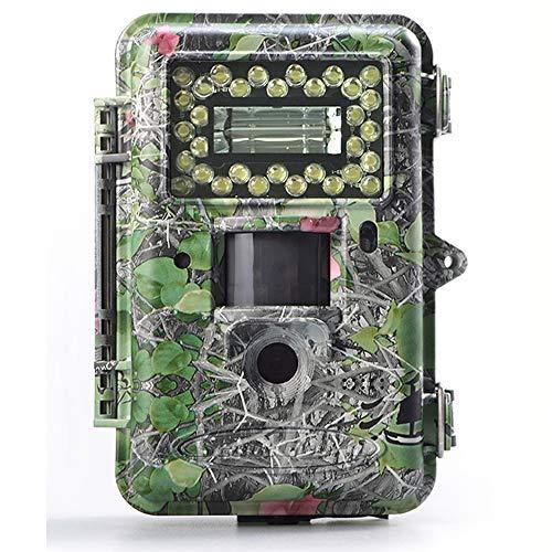 Jagdweg-Spielkamera, 14 MP Scouting-Kamera, 5,1 cm (5,1 cm / 5,1 cm / 5,1 cm LCD-720p, 30 m Erfassungsreichweite, weiße LED-Kameras, unterstützt Farbbilder und Videos bei Nacht Lcd-xenon