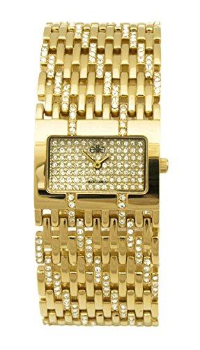 Elite Damen-Armbanduhr Analog Quarz Edelstahl E51144G-151
