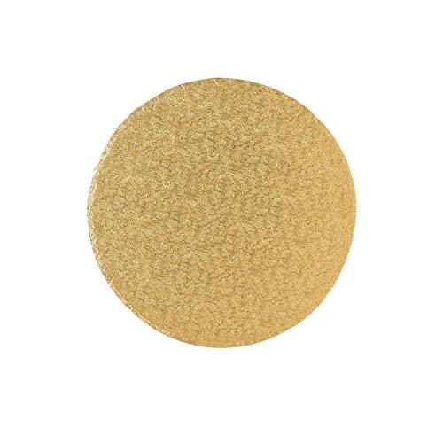 Tortenplatte/Cakeboard 30,4cm rund | aus fester Pappe | golden kaschiert | Motivtorten