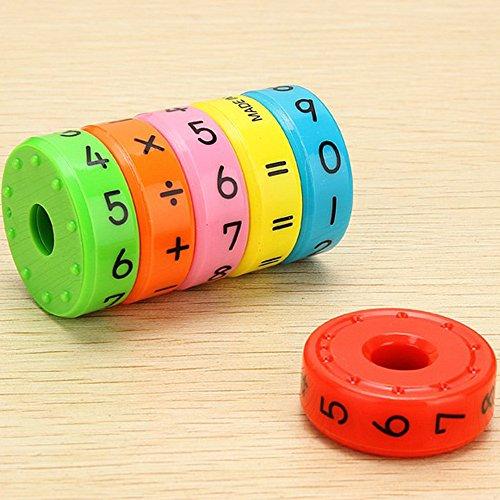 ik Lernspielzeug Kindergarten Pädagogische Intelligenz Arithmetik Spielzeug 6-teilige Magnetische Zahlen für Kinder - Bunte ()