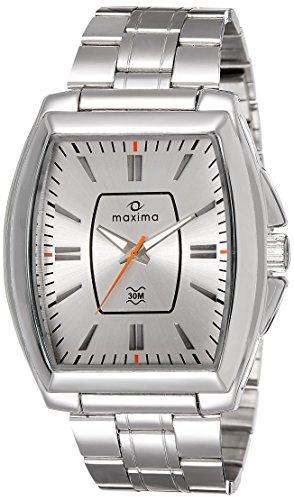Maxima Analog Silver Dial Men's Watch - 38152CAGI