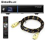 GigaBlue UHD UE 4K ULTRA HD 1xDVB-S2 FBC E2 Linux Receiver + MG-Technik HDMI-Kabel V2.0 Gold