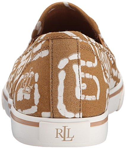 Lauren Ralph Lauren Janis Fashion Sneaker Toast/White Batik Tribal