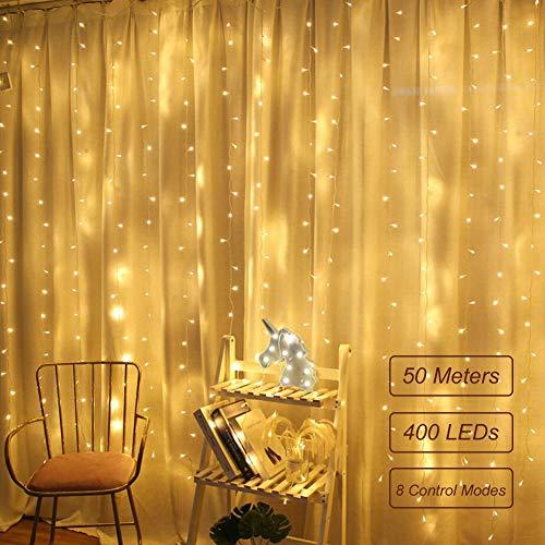 LED Lichtervorhang für Weihnachten