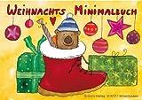 * Weihnachts-Mini-Malbuch * von der Künsterlin Soe Sadr im Grätz-Verlag // 18767 // Kinder Geschenk ausmalen Mitbringsel Kreativ Spass Spiel Weihnachten Adventskalender Nikolaus Weihnachtsmann