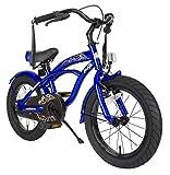 BIKESTAR® Premium Design Kinderfahrrad für coole Kids ab 4 Jahren ? 16er Deluxe Cruiser Edition ? Champion Blau