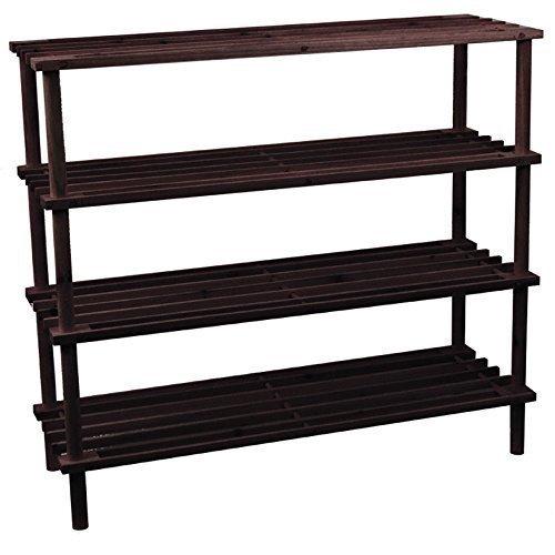 home-discount-4-tier-slated-wood-storage-organiser-shoe-stand-rack-dark-oak-free-delivery