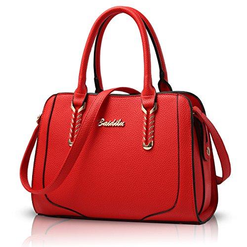 Sunas 2017 nuova borsa a tracolla Messenger grande sacchetto della signora borsa borsa di modo rosso