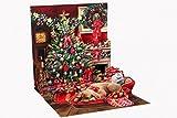 Pop Up 3D Weihnachten Karte PopShot Kamin Zauber 13x13 cm