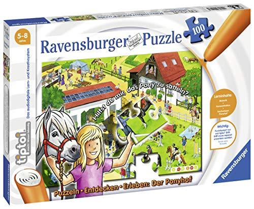 Ravensburger tiptoi 00518 - Puzzle: Ponyhof, 100 Teile