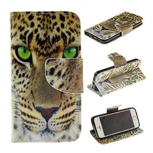 Nutbro iPhone 5C Case, iPhone 5C Wallet Case, [Wallet Case] PU Leather Flip Case For Apple iPhone 5C ZZ-iPhone-5C-45