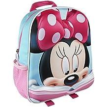 Minnie 3D Mochila infantil, 31 cm, Rojo