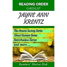 Reading order checklist: Jayne Ann Krentz - Series read order: The Arcane Society Series, Ghost Hunters Series , Rainshadow Series and more! (English Edition)