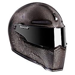 Bandit Helmets Alien II ECE 22-05,geprüft,Kopfbelüftung,Motorradhelm, Sports-Farbe:carbon, Größe:XL(61/62)