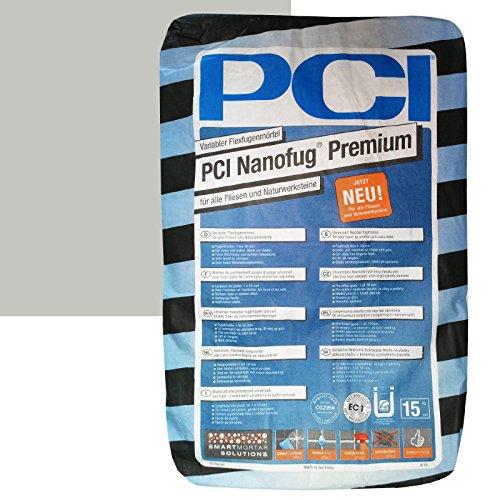 "PCI Nanofug Premium 15kg Flexfugenm\""rtel Nr. 21 Hellgrau"