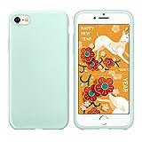 iPhone 8 Hülle ,iPhone 7 Hülle, Humixx Silikon Gel Gummi Koffer Weich HandyHülle mit Microfaser Tuch Sleek Skin Grip leichten Shockproof Schutz Perfekte Passform für iPhone 7 & iPhone 8 (Mint Green)