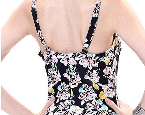 PRIDE S Dreieck Badeanzug Blumen Bikini Badeanzug Schwarz
