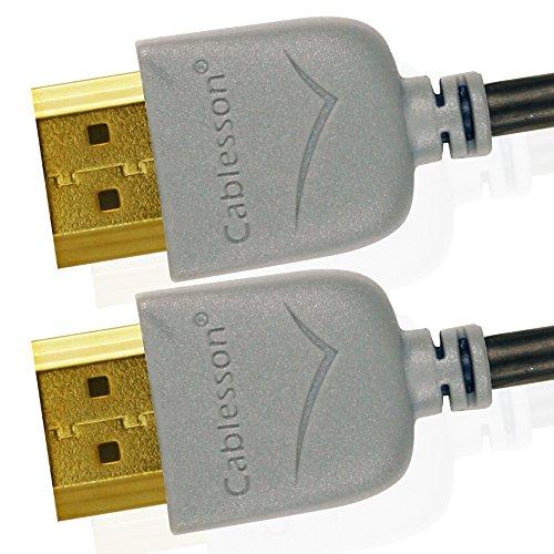 Cablesson Ivuna Slim Flex 1.5m High Speed HDMI Kabel (HDMI Typ A, HDMI 2.1/2.0b/2.0a/2.0/1.4) - 4K, 3D, UHD, ARC, Full HD, Ultra HD, 2160p, HDR - **Ultra Slim Design** - grau 1080p Ultra Slim Led