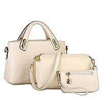 Clearence!Sonnena Sale Women Handbag Ladies Crocodile Pattern Zipper Large Capacity Shoulder Bag Tote Purse Bag Casual PU Leather Bag Messenger Bags Top-Handle Crossbody Bags