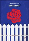 Poster 50 x 70 cm: No170 My Blue Velvet Minimal Movie Poster von chungkong - Hochwertiger Kunstdruck, Neues Kunstposter