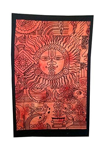 Shubhlaxmifashion Wohnheim Decor Wandbehang Hippie Tapisserie Bohemian Indischen Sun Moon Star Mandala (Teal Decor Tabelle)