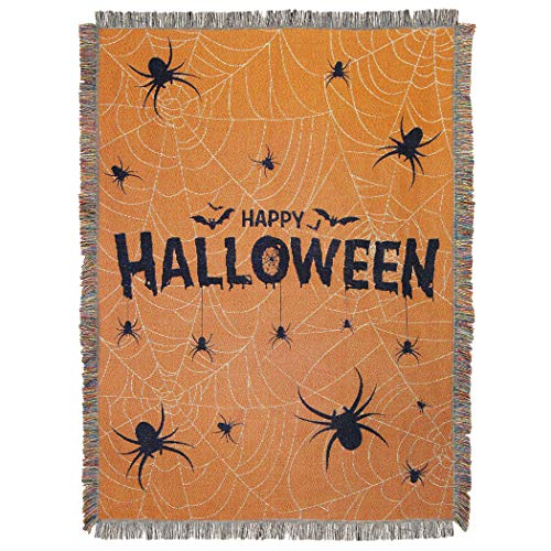 The Northwest Company Halloween Webs Woven Tapestry, 48