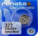 Renata Single Watch Battery Swiss Made Renata 377 or SR626SW OR AG4 1.5V