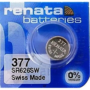 Renata Single Uhrenbatterie Swiss Made Renata 377 oder SR626SW oder AG4 1,5 V