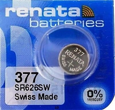 5 Stück Renata Single Uhrenbatterie Swiss Made Renata 377 oder SR626SW oder AG4 1,5 V (Uhrenbatterie Sr626sw 377)