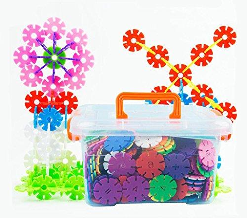 Kindergarten buchstabiert die Anzahl der Schneeflocken Stück Kinderschreibtisch frühe Ausbildung Puzzle Plastik Spielzeug Bausteine