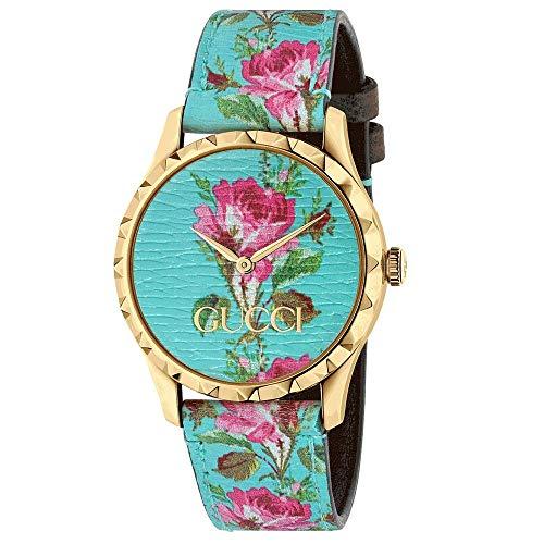 Gucci Reloj de Mujer de 38 mm g timless patrn Floral Azul YA1264085