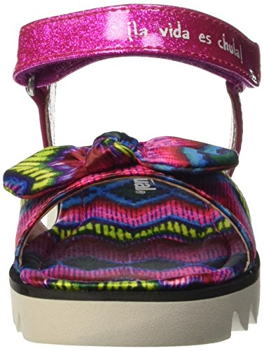 Desigual Shoes_Sandalia 2, Sandales Bout Ouvert Fille Pink (3009 CHICLE)